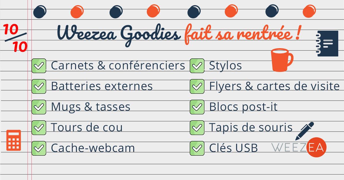 Weezea Goodies OPTIMISER LA COMMUNICATION DE VOTRE ENTREPRISE POUR LA RENTRÉE !